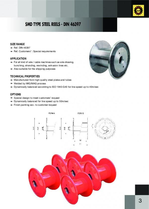 SMD Tipi Çelik Makara