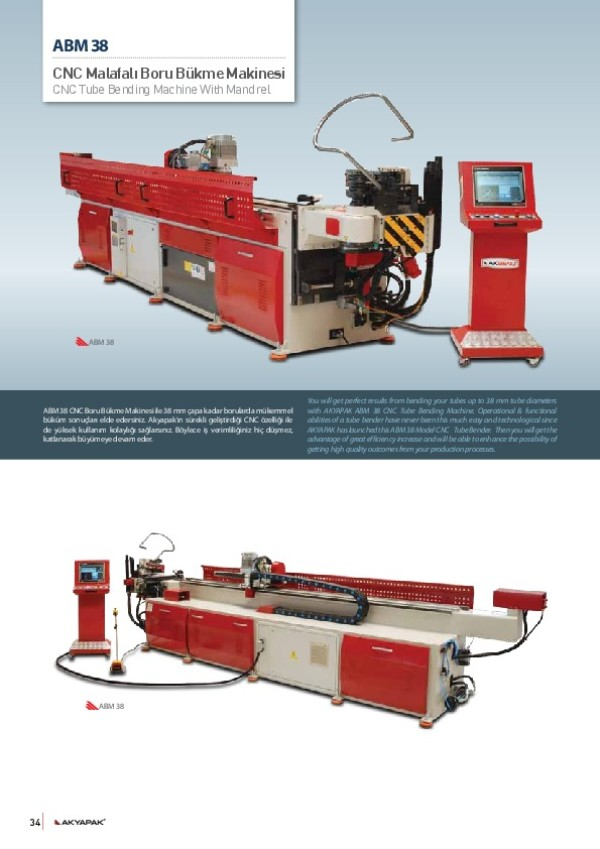 ABM 38 - Malafalı Boru Bükme Makinesi