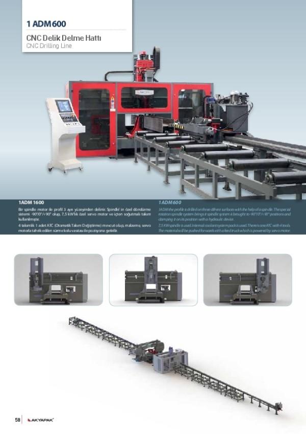 1ADM 600 CNC Delik Delme Hattı