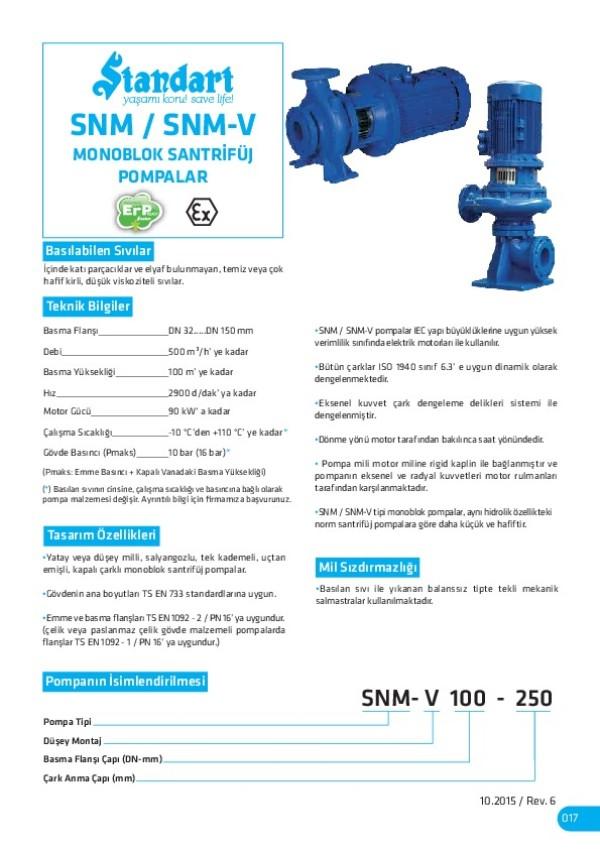 SNM/ SNM-V Monoblok Santrifüj Pompalar