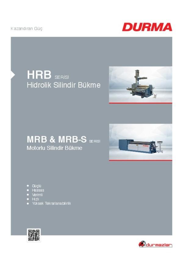 HRB Serisi Hidrolik Silindir Bükme ve MRB & MRB-S Serisi Motorlu Silindir Bükme