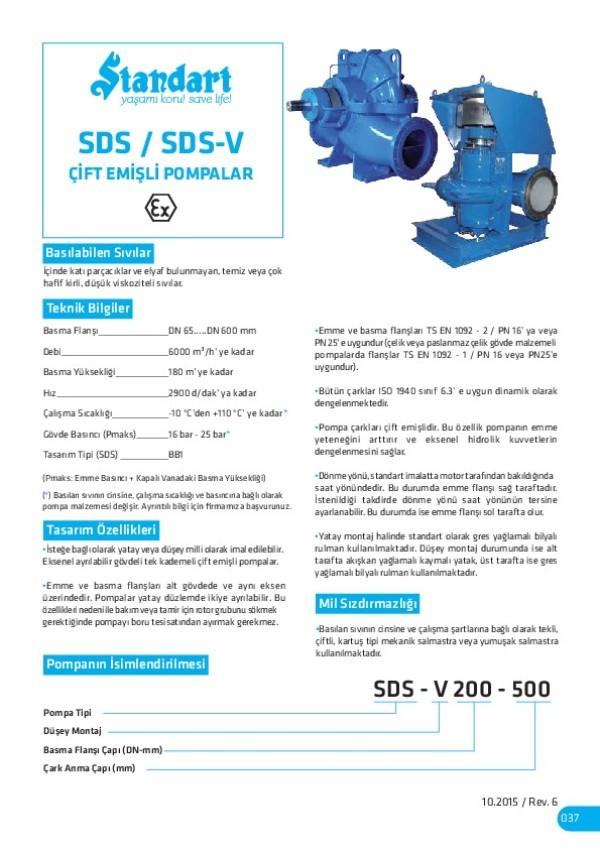 SDS/ SDS-V Çift Emişli Pompalar