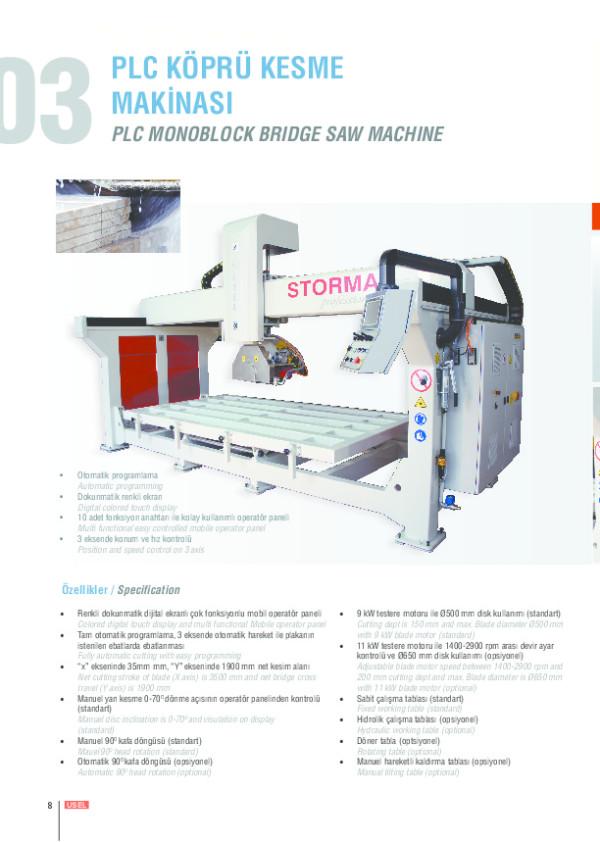 PLC Köprü Kesme Makinesi