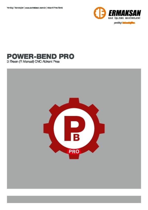 POWER-BEND PRO - 3 Eksenli CNC Abkant Pres