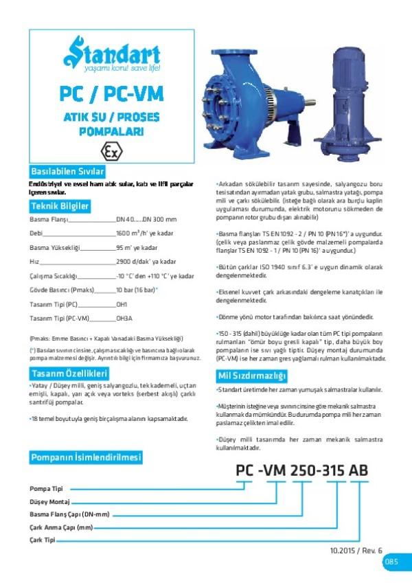 PC/ PC-VM Atık Su/ Proses Pompaları